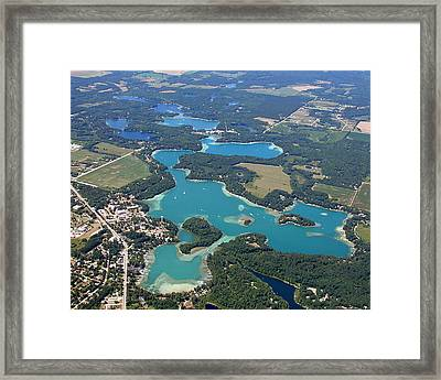 C-022 Chain-o-lakes Summer Waupaca Wisconsin Framed Print by Bill Lang