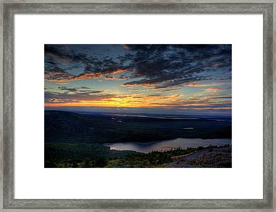 Cadillac Mountain Sunset I Hdr Framed Print