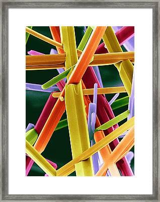 Caffeine Crystals, Sem Framed Print by Dr Jeremy Burgess