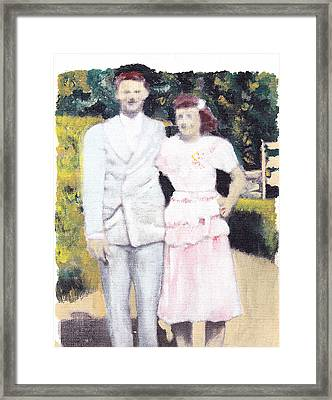 Caits Mom And Dad Framed Print by David Poyant