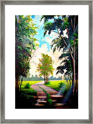 Caminho Framed Print by Leomariano artist BRASIL