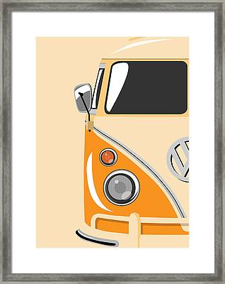 Camper Orange Framed Print by Michael Tompsett