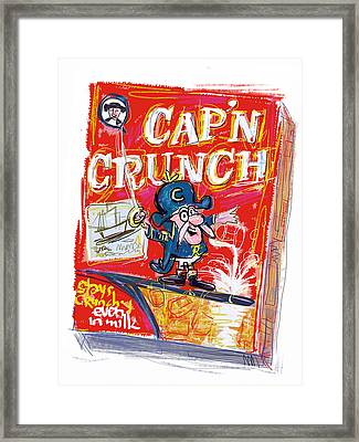 Capn Crunch Framed Print by Russell Pierce
