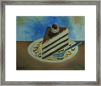 Caramel Cake Framed Print by Kostas Koutsoukanidis