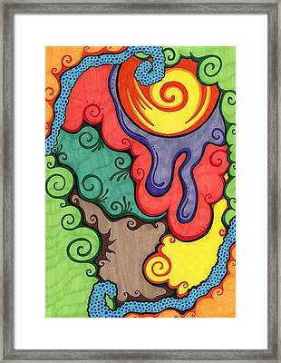 Caribbean Colors Framed Print