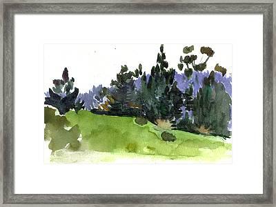 Carmel  California Framed Print by Marianne  Gargour