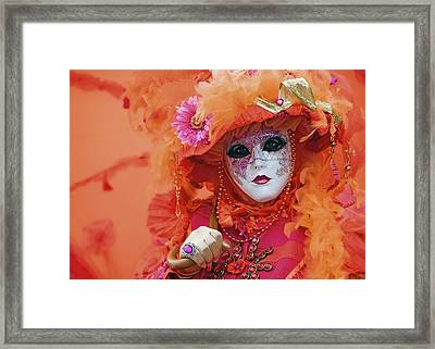 Carnival In Orange Framed Print