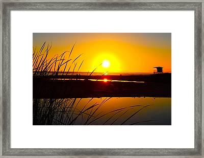 Carpinteria State Beach Framed Print by Bransen Devey