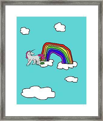 Cash Crap Unicorn Framed Print