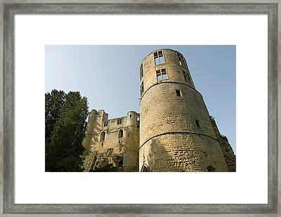 Framed Print featuring the photograph Castle - Ardennes - Luxembourg by Urft Valley Art