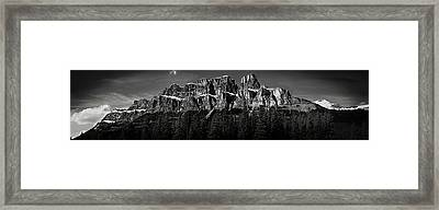Castle Mountain Panoramic Framed Print