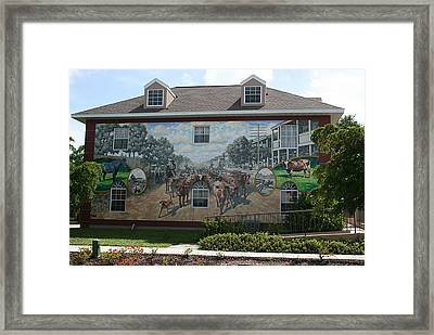 Cattle Drive Down Marion Avenue 1903 Framed Print by Michael Vires
