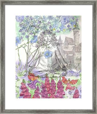 Framed Print featuring the painting Celestial Castle by Cathie Richardson