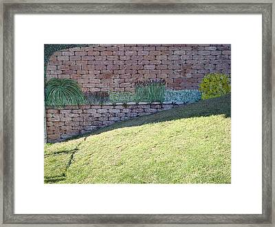 Cement Garden Wall Framed Print