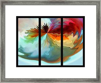Center Piece 'triptych' Framed Print by Terril Heilman
