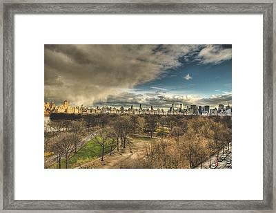 Central Park Springtime Framed Print by Ariane Moshayedi