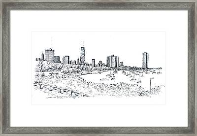 Chicago Lake Front  Framed Print