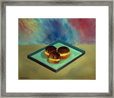 Chocolate Cakes Framed Print by Kostas Koutsoukanidis