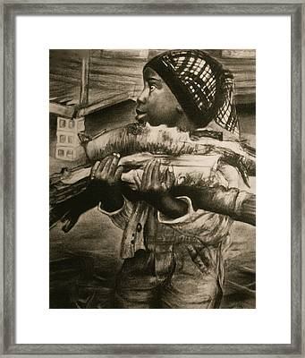 Chores Framed Print by Curtis James