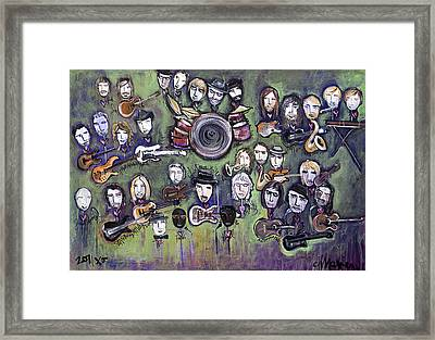Chris Daniels And Friends Framed Print by Laurie Maves ART
