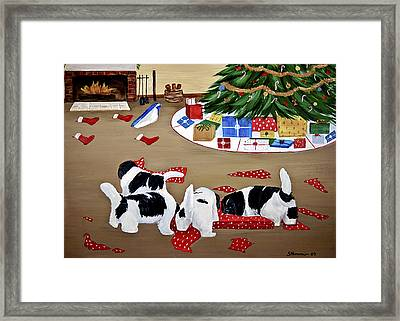 Christmas Mischief Framed Print by Sharon Nummer