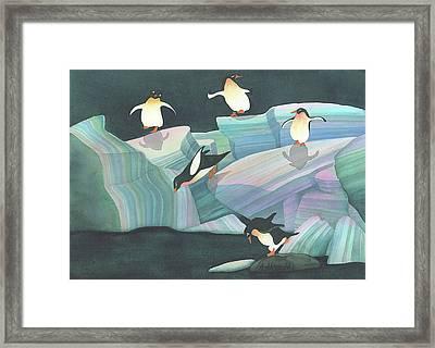 Christmas Penguins Framed Print by Anne Havard
