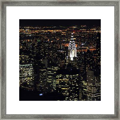 Chrysler Building At New York City Framed Print by Philippe Brunel