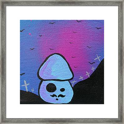 Classy Zombie Mushroom Framed Print by Jera Sky
