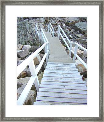 Cliff House Stairs Framed Print by Heather Weikel