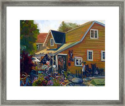 Coffee And Cream Cottage Framed Print by Nora Sallows