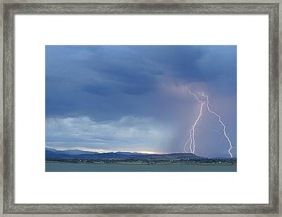 Colorado Rocky Mountains Foothills Lightning Strikes Framed Print