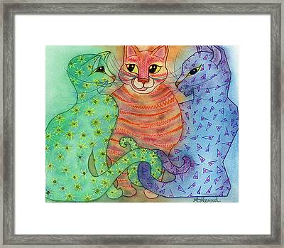 Colorful Cats Framed Print by Anne Havard