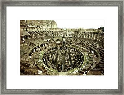 Colosseum Framed Print by Emanuel Tanjala
