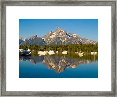 Colter Bay Marina Framed Print by Phil Stone