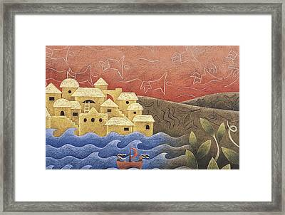 Coming Into Shore Framed Print by Mandy Evans