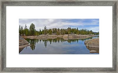 Coming Storm Lake Utica Sierra Nevada Landscape Panorama Larry Darnell Framed Print by Larry Darnell