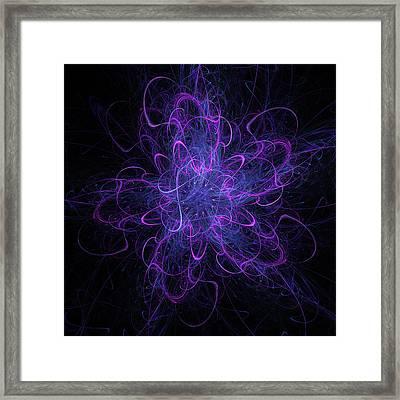 Confetti Star Framed Print by Pam Blackstone