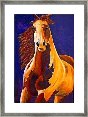 Framed Print featuring the painting Contemporary Horse Painting Painted Sensation by Jennifer Godshalk