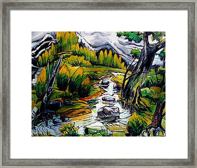 Continental Divide Eagle Peak Framed Print
