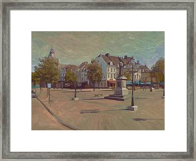 Framed Print featuring the painting Corner Bosch Street And Market Maastricht by Nop Briex