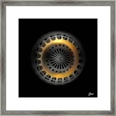 Cosmic Tire Framed Print by Julie Grace