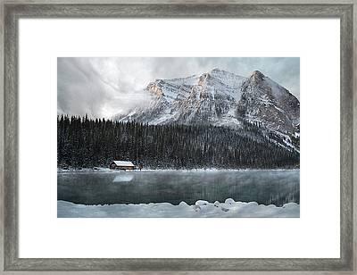 Cozy Cabin Morning Framed Print