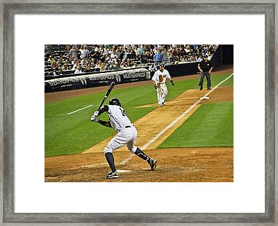 Curtis Granderson Framed Print by Andrew  Cragin