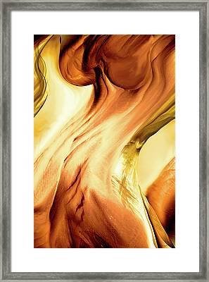 Curves Framed Print by Linda Sannuti