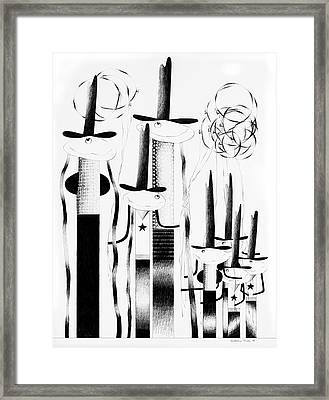 Cycloptic Family Portrait Framed Print by Tony Paine