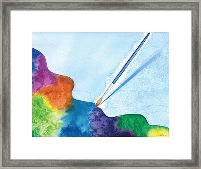 Dancing Paintbrush Framed Print by Debi Hammond