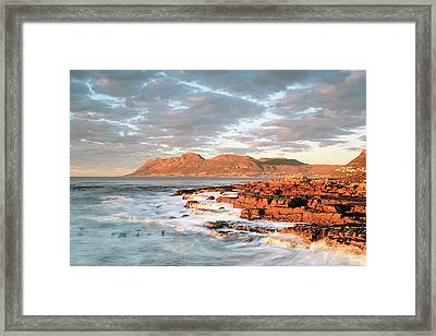 Dawn Over Simons Town South Africa Framed Print by Neil Overy