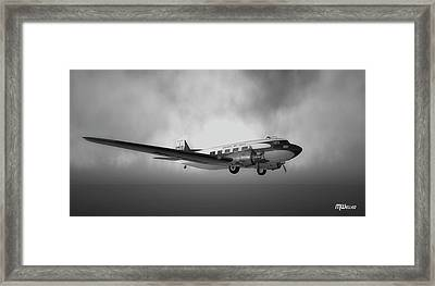Dc-3 Over Water Framed Print