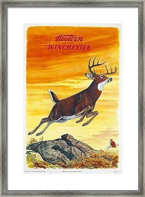 Deer Hunter Framed Print by J G Woods