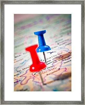 Destinations Framed Print by Jim DeLillo